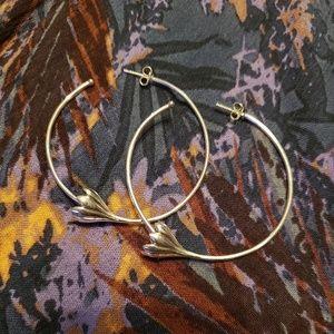 Pamela Love sterling silver anemone hoops
